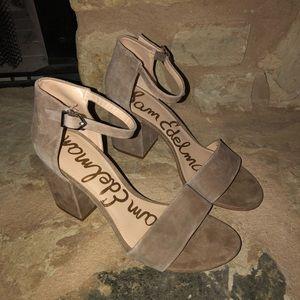 Sam Edelman Torrence Oatmeal Block Heels sz 8.5